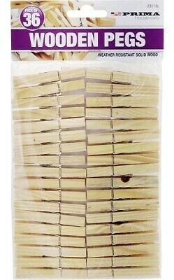 Wooden Clothes Pegs Pins Clips Washing Line Airer Dryer Line Wood • 3.49£