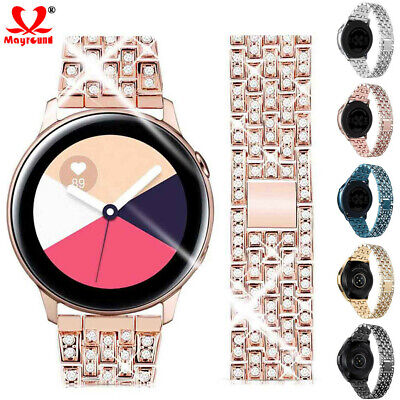 AU10.56 • Buy Luxury Bling Diamond Metal Band Strap For Samsung Galaxy Watch 46mm 42mm Active2