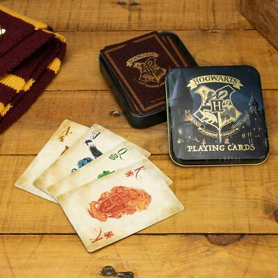 £4.79 • Buy Official Harry Potter Hogwarts Playing Cards With Metal Tin 52 Card Deck