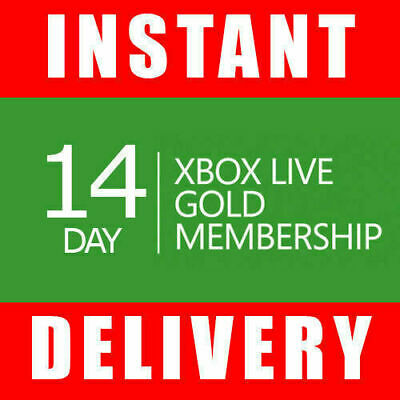 $4.35 • Buy Xbox Live 14 Day Gold Trial Membership Code (2 Weeks) - Instant - Xbox One Only