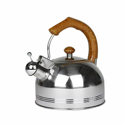 Whistling Stainless Steel Kettle 2L Silver Hob Stove Gas Fast Boil Handle New • 5.79£