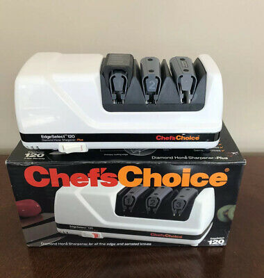 $116.95 • Buy Chefs Choice EdgeSelect 120 Electric Knife 3-Stages Diamond Hone Sharpener Plus