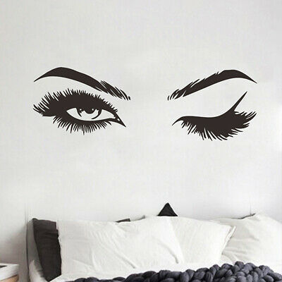 £3.82 • Buy Wall Art Stickers Eye Lashes Extensions Beauty Salon Wall-Decor Eyebrows Make Up