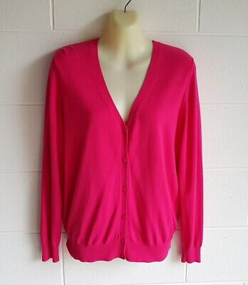 AU15 • Buy  Uniqlo , Nwot Size Xl (14) Dark Pink Cardigan / Top