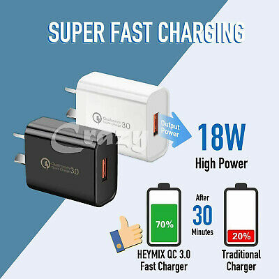 AU7.25 • Buy Qualcomm 18W  Quick Charge QC 3.0 For Universal Fast USB AU Plug Wall Charger