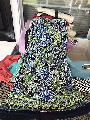 $14.99 • Buy Lilly Pulitzer Strapless Dress Coverup Size Medium Stretchy Comfy Great Pattern