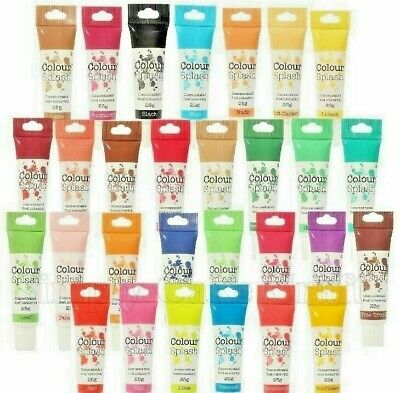 Food Colouring Gel Paste Concentrated For Icing & Cake Decorating Colour Splash • 2.74£
