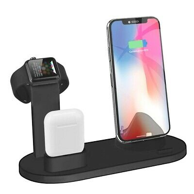 $ CDN20.96 • Buy 3 In 1 Charging Dock Charger Stand For Apple Watch Series/AirPods IPhone Station