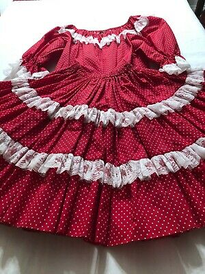 $23.75 • Buy Square Dance Outfits - Lookin' Great In Pretty Red & White Polka Dots
