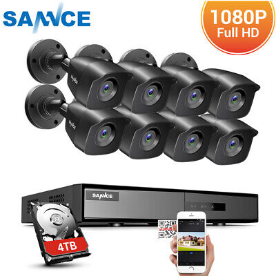 £39.99 • Buy SANNCE 8CH 5IN1 CCTV 1080N DVR Home Security System 3000TVL Camera Outdoor Video