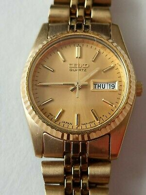 $ CDN81.72 • Buy SEIKO QUARTZ WOMEN'S WRIST WATCH GOLD PLATE , Pre-owned .