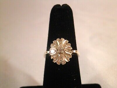 $225 • Buy Vintage 14k White Gold Ring With 9 Diamonds Signed KB Wgt 4.5 Gr. Size 6 1/4