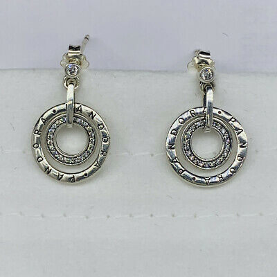 New  Pandora Circles Drop Earrings C/z • 26.77£