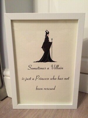 Disney Maleficent Quote A4 Print Art Framed Gift Home Christening • 3.99£