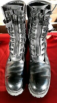 $69 • Buy Mens All American MFG Vibram Steel Toe Black Leather Fireman Boots Size 10.5 D