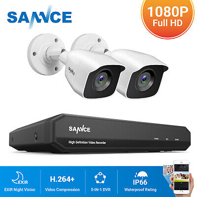 £64.79 • Buy SANNCE HD 8CH 1080P HDMI 5IN1 DVR Outdoor 3000TVL CCTV Camera Security System UK