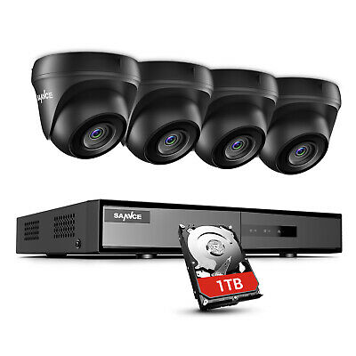 £145.89 • Buy SANNCE 1TB HD 5IN1 4CH DVR 3000TVL Dome Outdoor CCTV Camera Home Security System