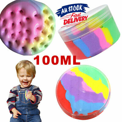 AU11.25 • Buy Rainbow Cotton Fairy Slime  Cloud Stress Relief Kids Toy Fluffy Ice Cream Mud