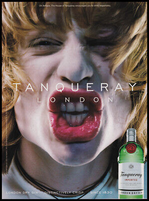 AU7.52 • Buy Tanqueray London Dry Gin Print Ad 2000 - Big Lips