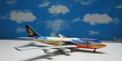 AU281.84 • Buy Singapore Airlines Tropical B747-400 1:200 9V-SPL Die-cast Airplane Model