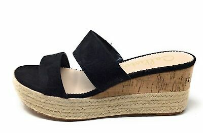 $23.28 • Buy Callisto Women's Foundation Espadrille Wedge Sandal Black Suede Size 8 M US