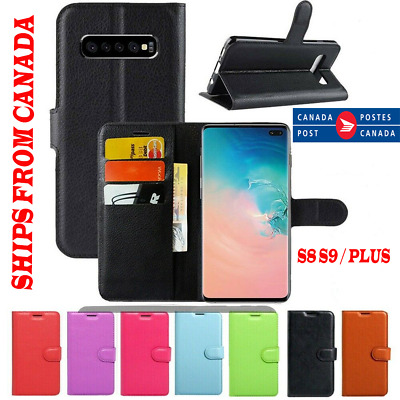 $ CDN8.99 • Buy For Samsung Galaxy S9 S8 / Plus Wallet Leather Card Holder Flip Case Full Cover