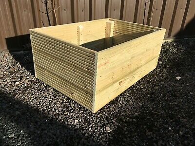 Raised Bed Wooden Decking Planter, Garden Or Allotment Veg Box Flower Container  • 44.50£