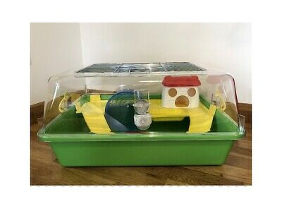 Large Hamster Cage House With Toys, Wheel 50cm For Pet Dwarf Hamster, Mouse Etc • 28£