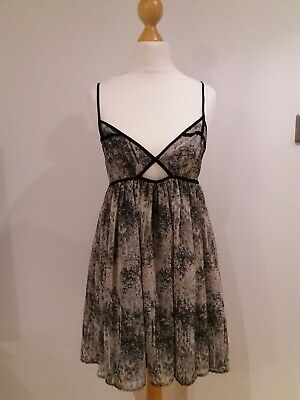 Lovely Size UK 10 Topshop Summer Beach Cami Dress Top Strappy Hippy Print P  • 3.35£
