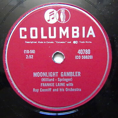 $ CDN35 • Buy Frankie Laine Moonlight Gambler / Lotus Land JAZZ 78 Columbia 40780 CA Pressing