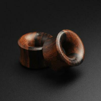 £5.99 • Buy Wooden Flesh Tunnels Ear Gauges   Sono Wood Double Flare Concave Tunnel