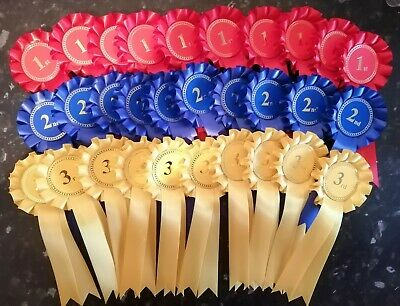 £24 • Buy 10 Sets Of 1st - 3rd  - 30 Rosettes Dog/Horse Show Event *FREE POSTAGE*