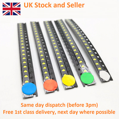 Green 1st CLASS POST Red PLCC-2 SMD // SMT LEDs Orange Yellow White Blue