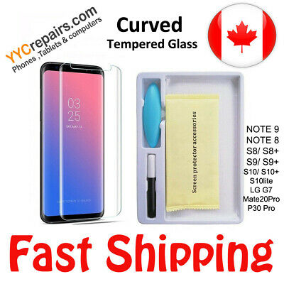 $ CDN11.99 • Buy UV Glue Nano 3D Curved 9H Samsung S8 S9 Plus Tempered Glass Screen Protector