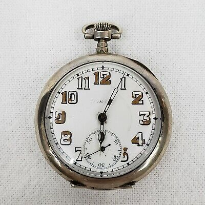 $ CDN353.05 • Buy ANTIQUE FRENCH STERLING SILVER ANCRE 15 RUBIS POCKET WATCH FOR TIFFANY & Co.