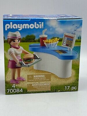 Playmobil Egg Of Easter Surprise  Young Waitress With Burger Counter 70084 17pc • 9.99£