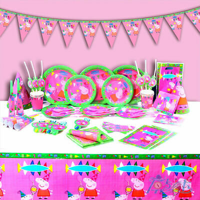 Peppa Pig George Party Supplies Decoration Birthday Plate Cover Cup Balloon • 3.69£