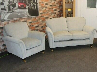 £1799 • Buy Parker Knoll Devonshire 2 Seater Sofa & 2 Chairs In Silver Grey Fabric