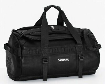 Supreme North Face Leather Base Camp Duffle Black FW17 Pocono Expedition NWT • 1,430.51£