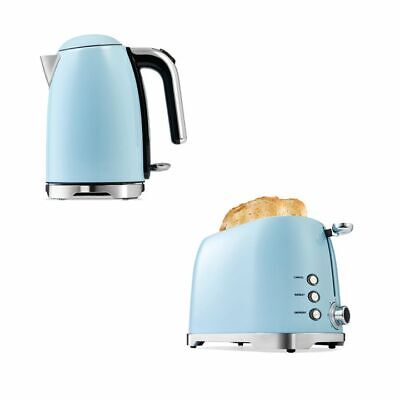 AU109.95 • Buy Blue Toaster 2 Slice Cordless 1.7L Kettle Stainless Steel Electric Kitchen Set