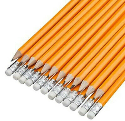 2-100 HB Pencils With Erasers Office School Home Craft Art Drawing Smooth  • 2.39£