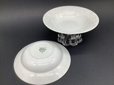 $ CDN23.80 • Buy 2 Diamondstone Laveno Italy Renaissance White Embossed Rim Fruit Dessert Bowls