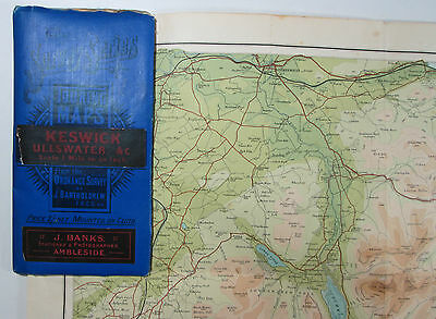Approx 1911 The Survey Series Of Touring Maps By Bartholomew - Keswick Ullswater • 18.25£
