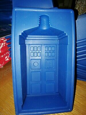 Doctor Who Tardis Silicone Mould Ice Tray Jelly Mold DIY Baking Tool UK Dispatch • 7.99£