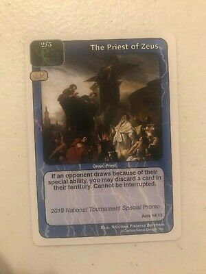 $45 • Buy Redemption CCG 2019 National Tournament Special Promo The Priest Of Zeus