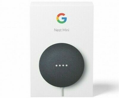 AU64.90 • Buy Google Smart Nest Mini (2nd Generation) Smart Speaker Charcoal Chalk AU Model