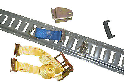 $312.61 • Buy 12 Gray E Track W/ 12 Wood Beams 12 Tie Downs And 12 Ratchet Straps & 12 ORings