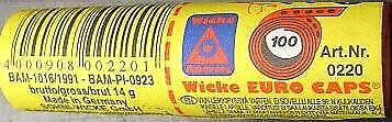 Wicke Roll Paper Caps 12 Rolls Of 100 1200 Shots Together Gun Toy • 10.12£