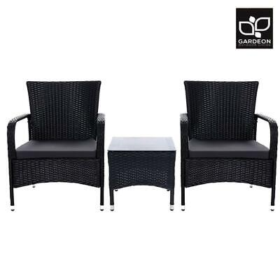 AU178.50 • Buy RETURNs Gardeon Patio Furniture Outdoor Table And Chairs Bistro Set Wicker Ratta