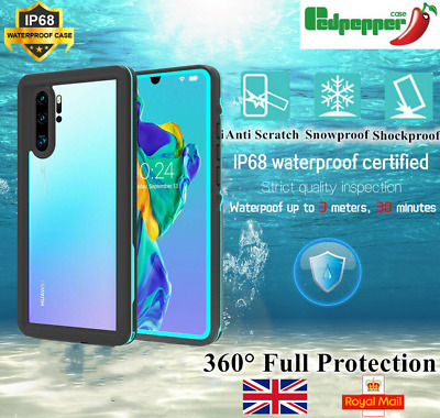 For Huawei  Mate 20 Pro P30 Pro Lite Waterproof Shockproof 360° Full Case Cover • 12.99£